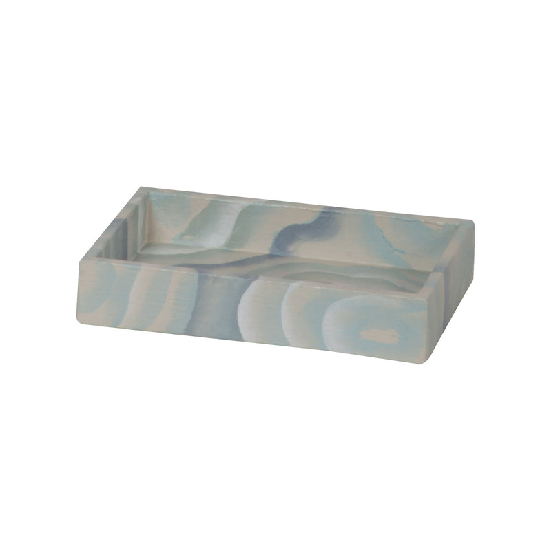 Coastal Agate Soap Dish. Hand-Painted Coastal Agate Pattern