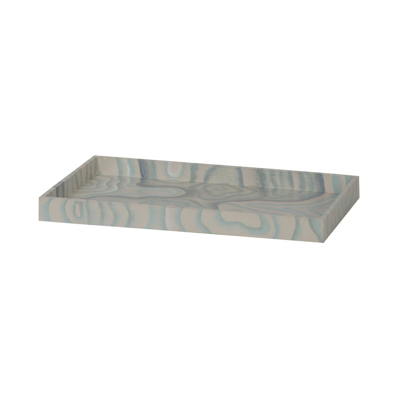 Coastal Agate Bath Tray. Hand-Painted Coastal Agate Pattern