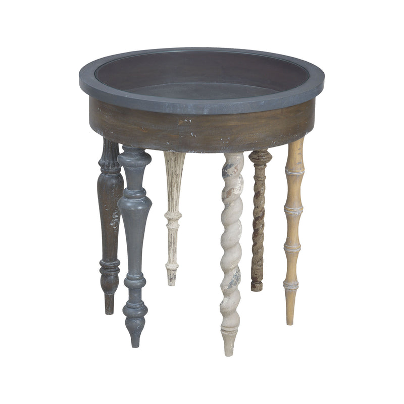 Artifacts Round Side Table In Antique Smoke - Antique Smoke