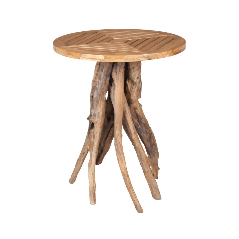 Teak Root Patio Table In Euro Teak Oil - Euro Teak Oil