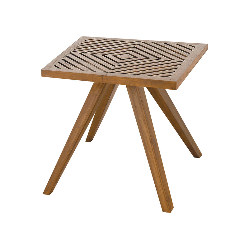 Teak Patio Side Table In Euro Teak Oil - Euro Teak Oil
