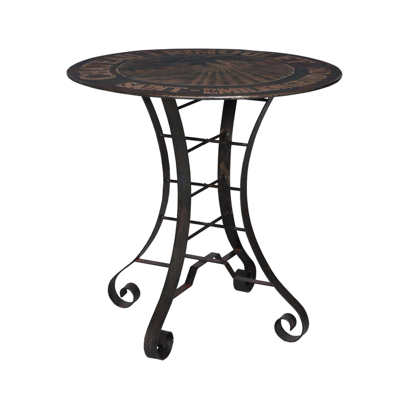 36-Inch Metal Bistro Table -