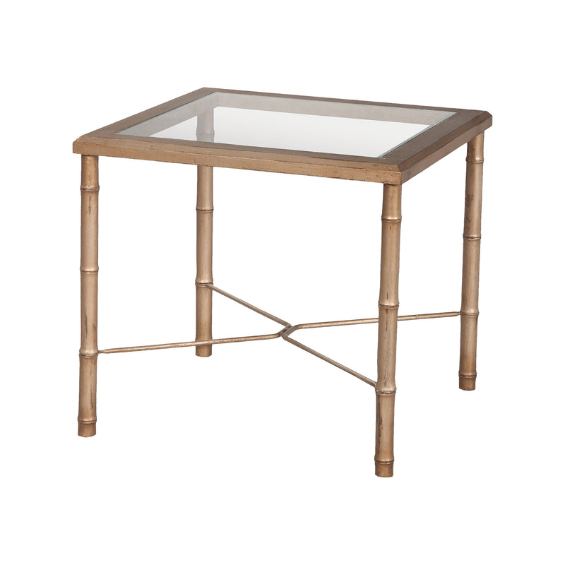 Bamboo Side Table In Champagne Gold - Champagne Gold