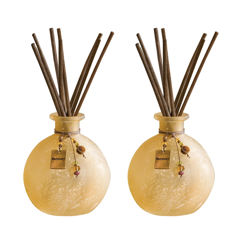 Harmony Set of 2 Tierra Reed Diffusers - Bead