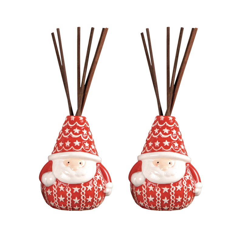 Santa Set of 2 Reed Diffusers In Red - Red