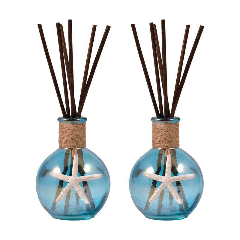 Seabrook Set of 2 Reed Diffusers Open Stock - Azure Lustre