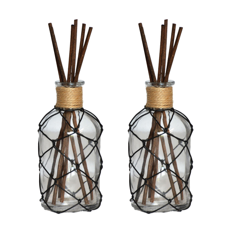 Farmhouse Set of 2 Reed Diffusers Tall Open Stock - Black