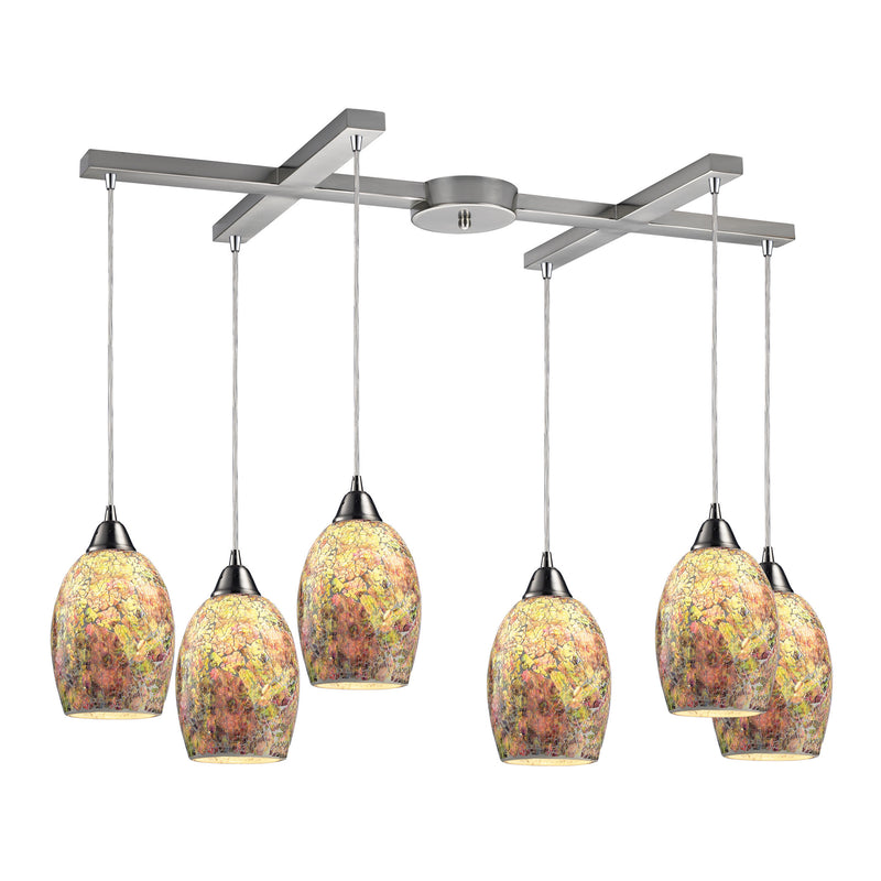 Avalon 6 Light Pendant In Satin Nickel - Satin Nickel