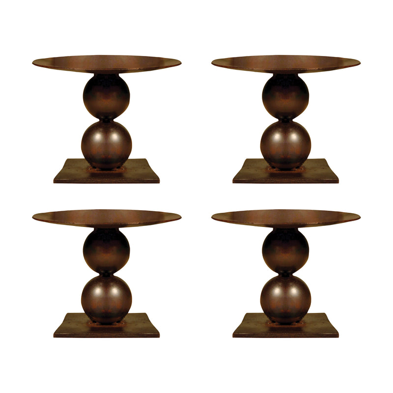"Mission Set of 4 Pillar Holders 4.75"" - Montana Rustic"