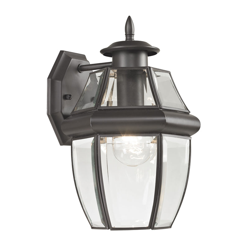 Ashford 1 Light Outdoor Wall Sconce In Oil Rubbed Bronze - Oil Rubbed Bronze