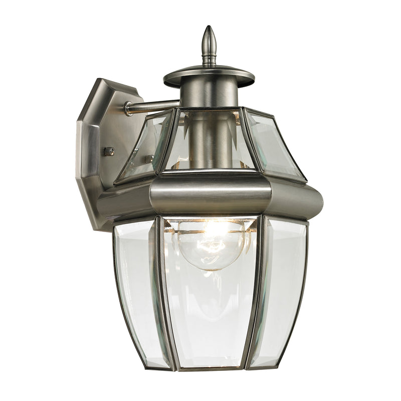 Ashford 1 Light Outdoor Wall Sconce In Antique Nickel - Antique Nickel