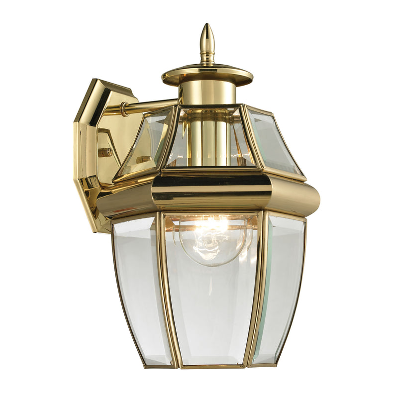Ashford 1 Light Outdoor Wall Sconce In Antique Brass - Antique Brass