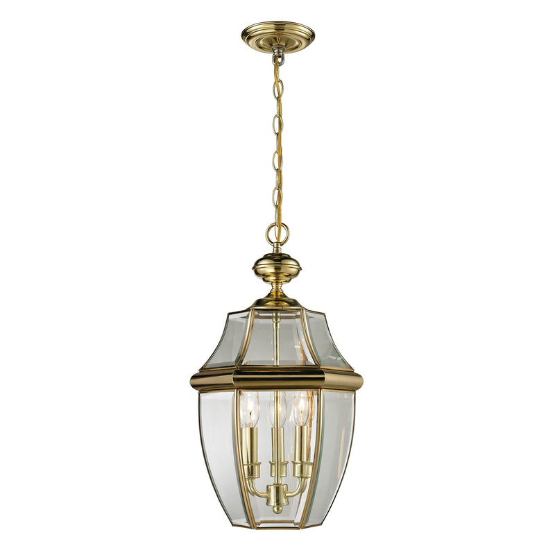 Ashford 3 Light Outdoor Pendant In Antique Brass - Antique Brass