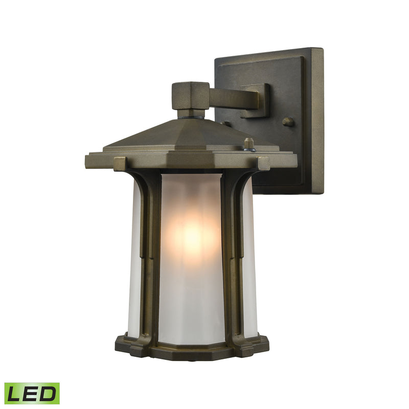 Brighton 1 Light LED Outdoor Wall Sconce In Smoked Bronze - Smoked Bronze