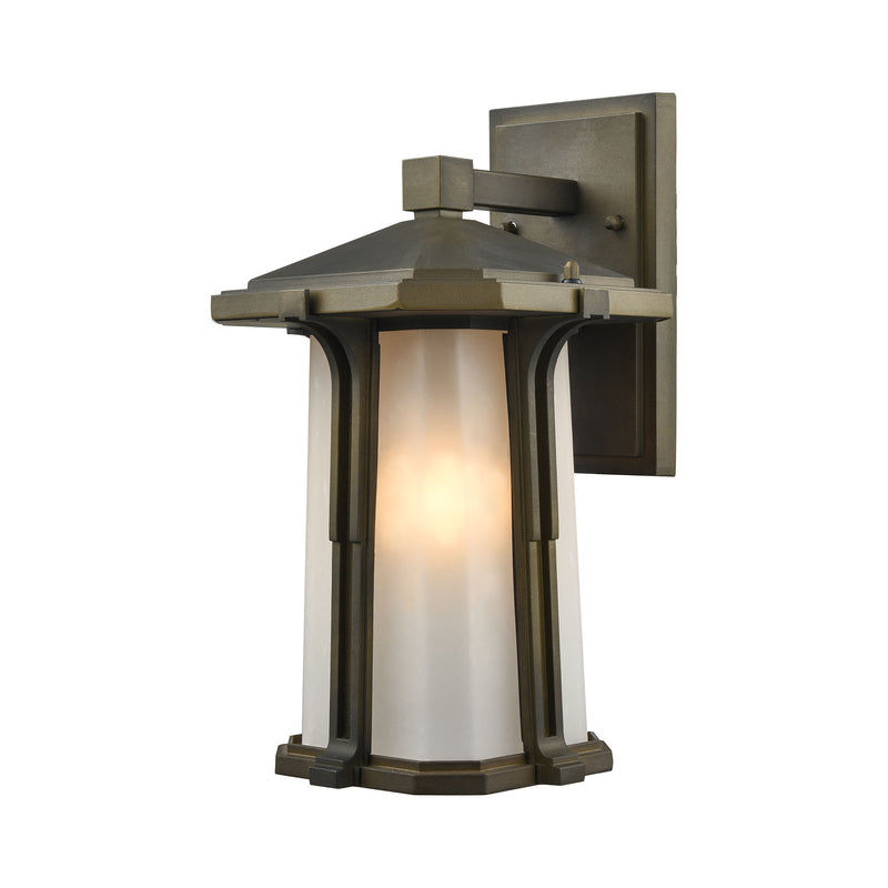 Brighton 1 Light Outdoor Wall Sconce In Smoked Bronze - Smoked Bronze