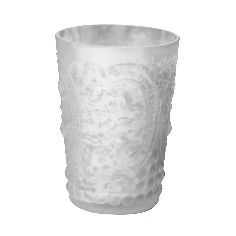 White Satin Mercury Votive - White