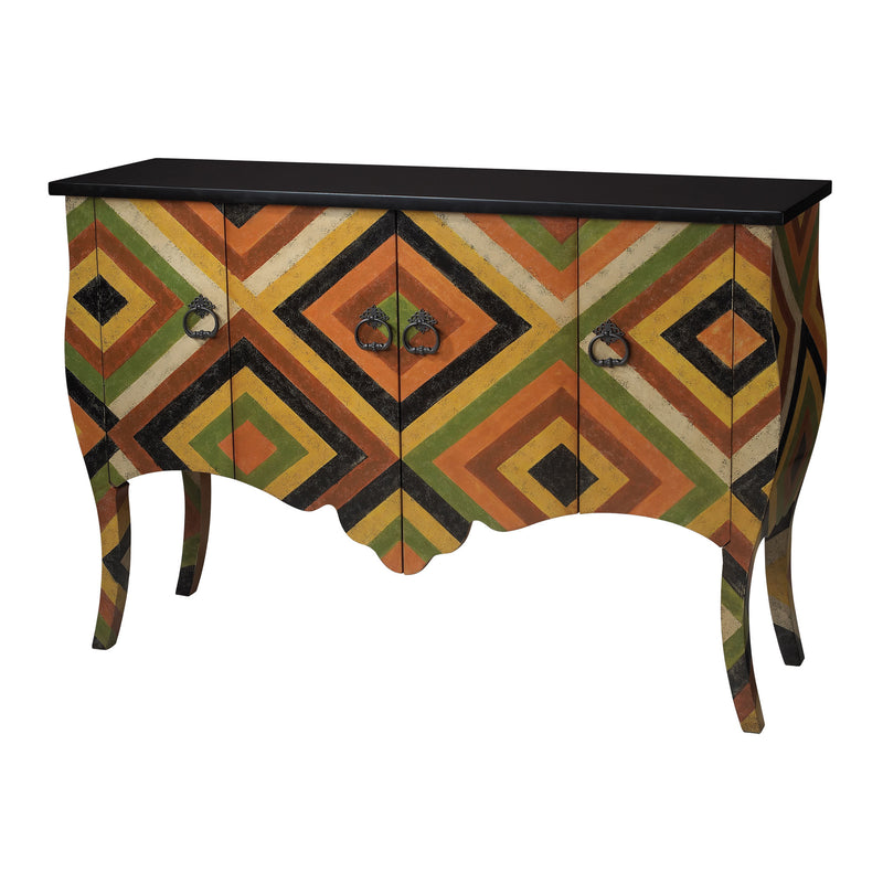 African Print Chest - Black