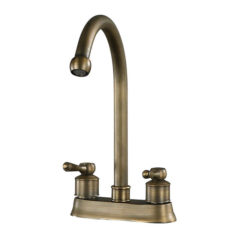 "9.5"" 2 HANDLE CENTRE SET ANTIQUE BRASS FAUCET - Antique Brass"