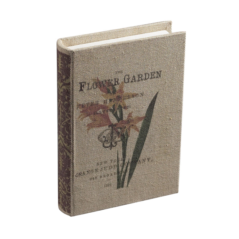 THE FLOWER GARDEN kEEPSAkE BOOk - CREAM LINEN