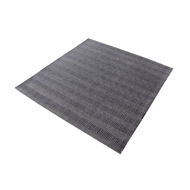 Ronal Handwoven Cotton Flatweave In Charcoal - 16-Inch Square. Charcoal