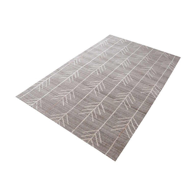 Armito Handtufted Wool Rug In Warm Grey - 3ft x 5ft. Warm Grey