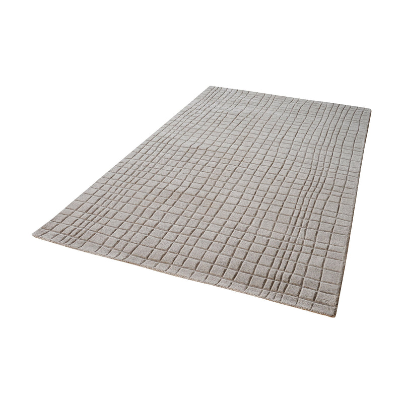 Blockhill Handwoven Wool Rug In Chelsea Grey - 5ft x 8ft. Chelsea Grey