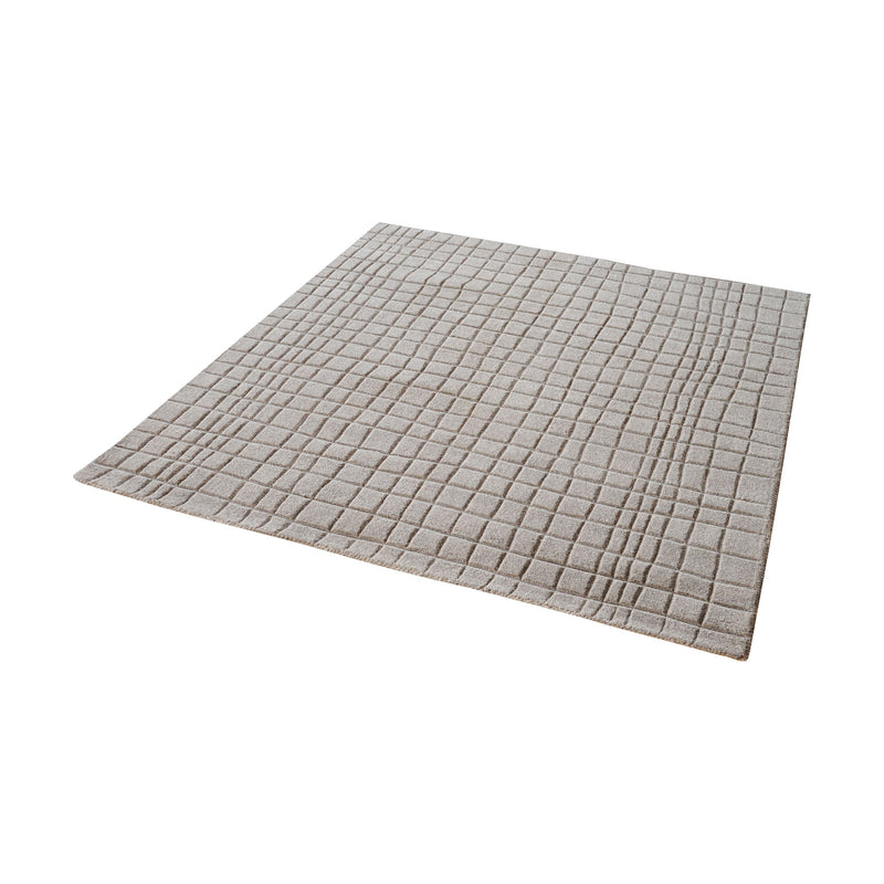 Blockhill Handwoven Wool Rug In Chelsea Grey - 6-Inch Square. Chelsea Grey