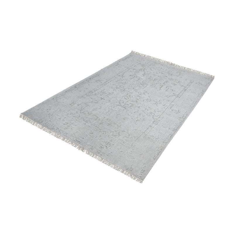 Belleville Handknotted Wool And Bamboo Viscose Rug. Grey