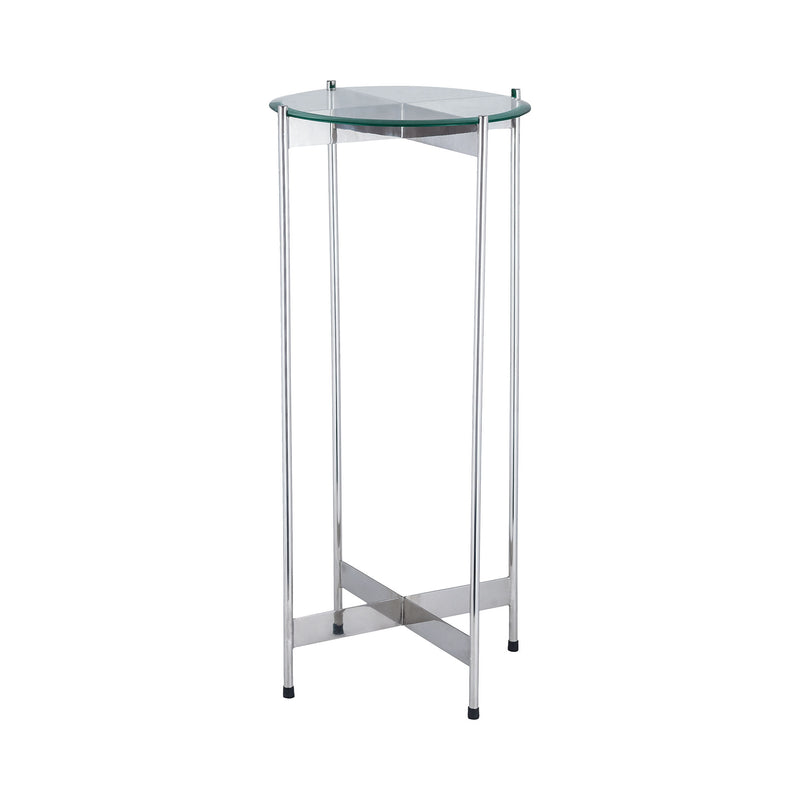 1 Wall Street Chrome Accent Table. Nickel