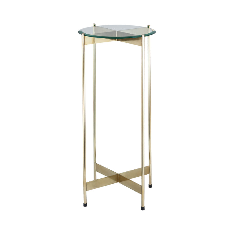 1 Wall Street Gold Accent Table. Gold