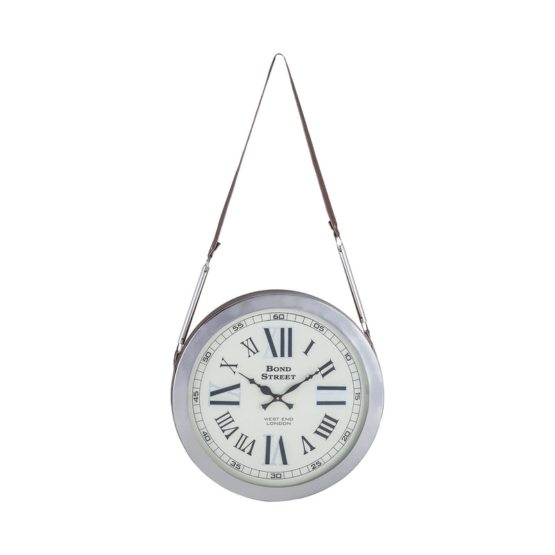 Bond Street Wall Clock - Polished Nickel