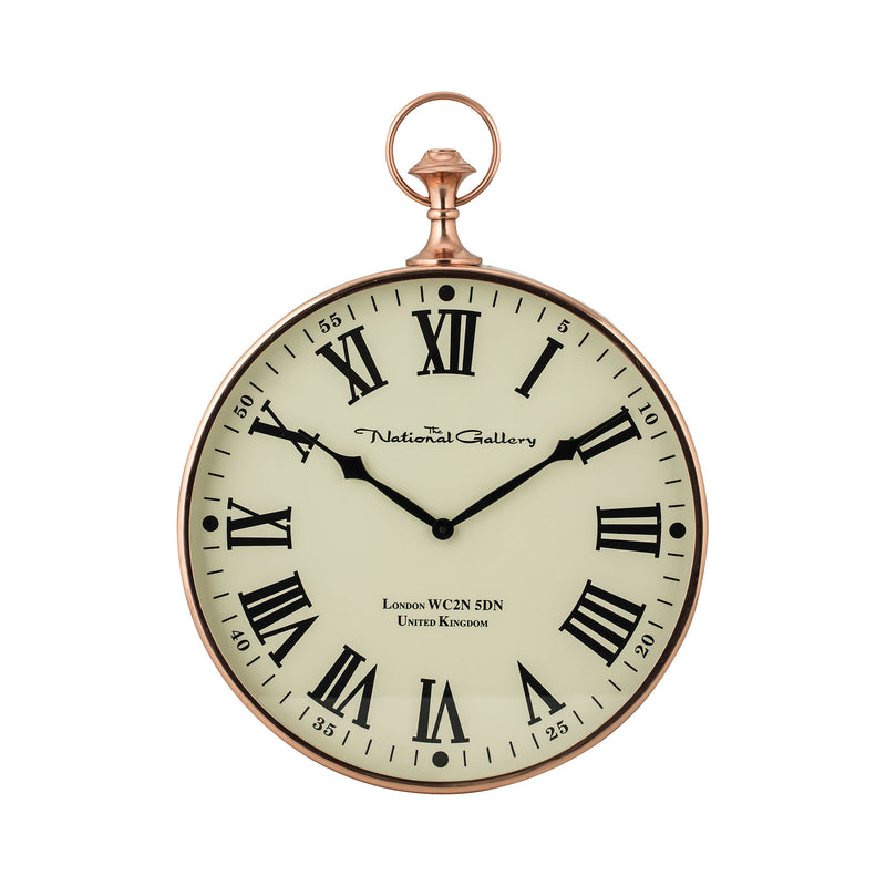 Polished Copper Wall Clock - Shiny Copper