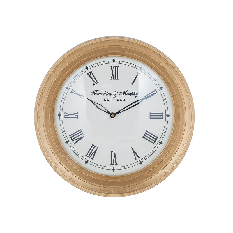 Carfax Crossing Wall Clock - Gold