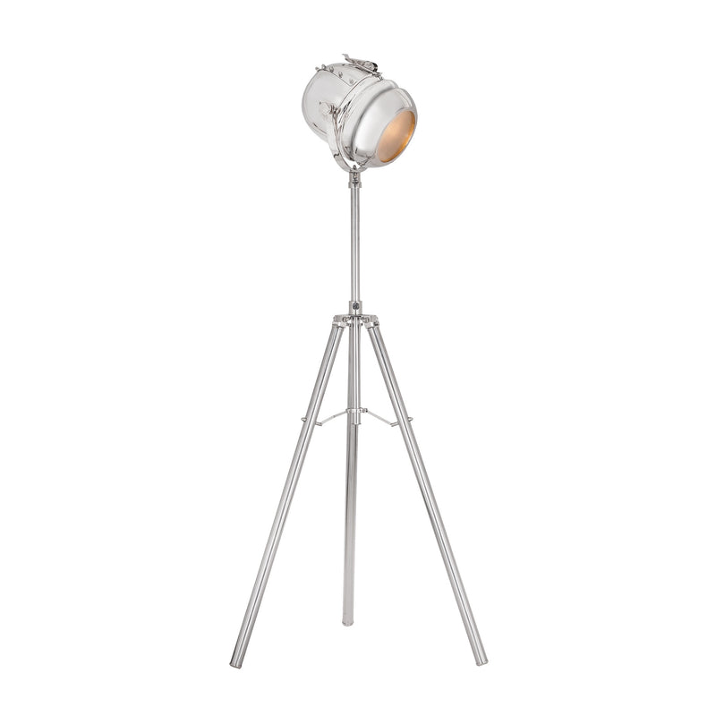 Glitz 1 Light Tripod Lamp In Nickel - Nickel