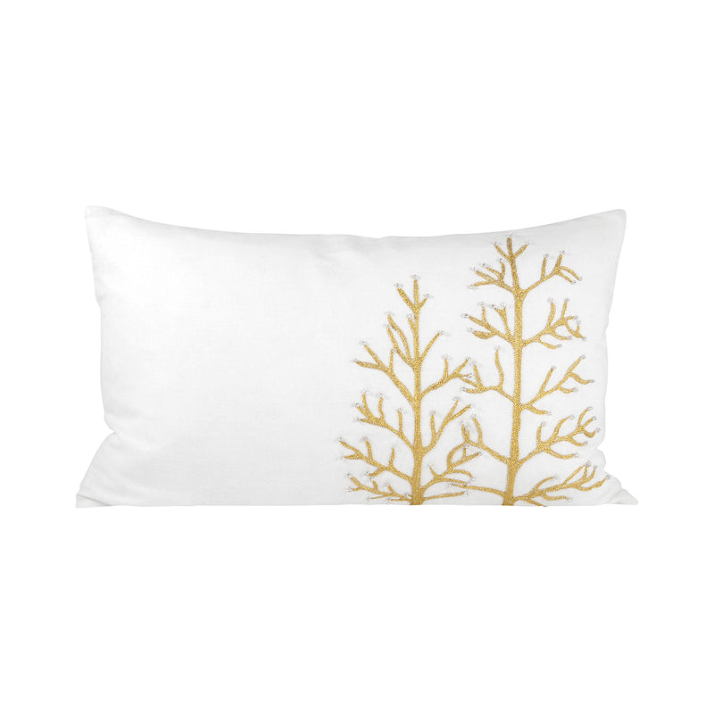 "Winter Gillter Pillow 20X12"" - Crema"