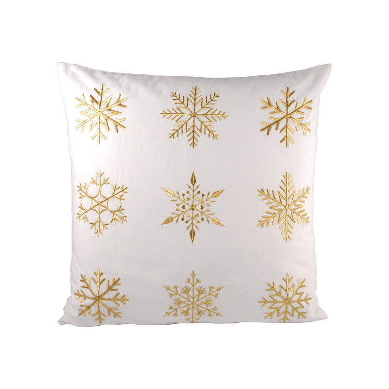 White Christmas 20x20 Pillow - Gold