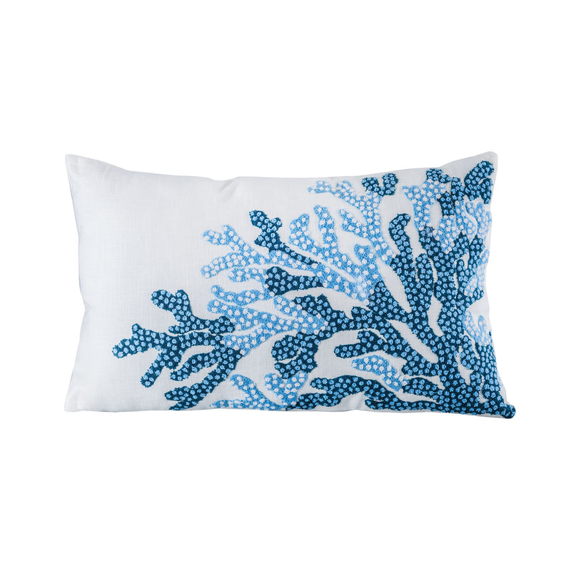 "Reefcrest Pillow 16x26"" - Deep Waters"