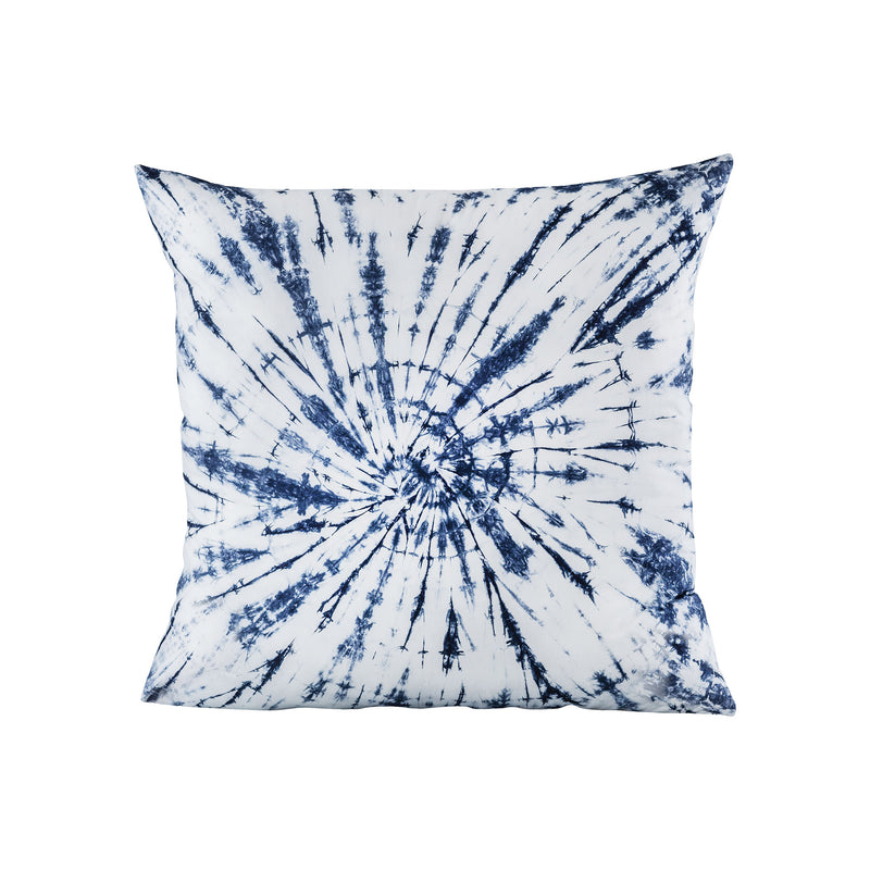 Vortizan Pillow 24x24 - Blue, Cream