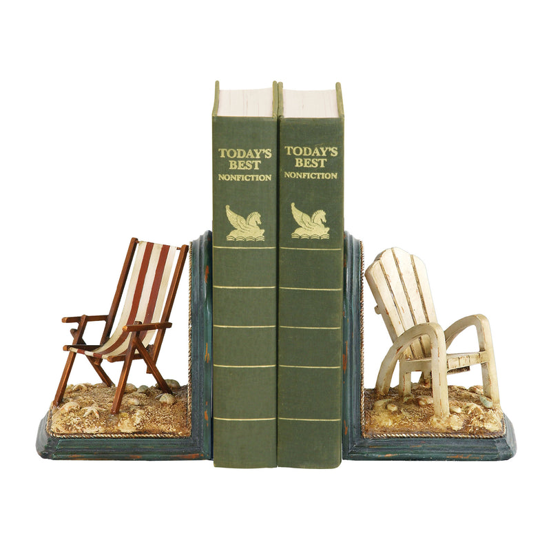 Beach Chair Bookends - Pair - Red