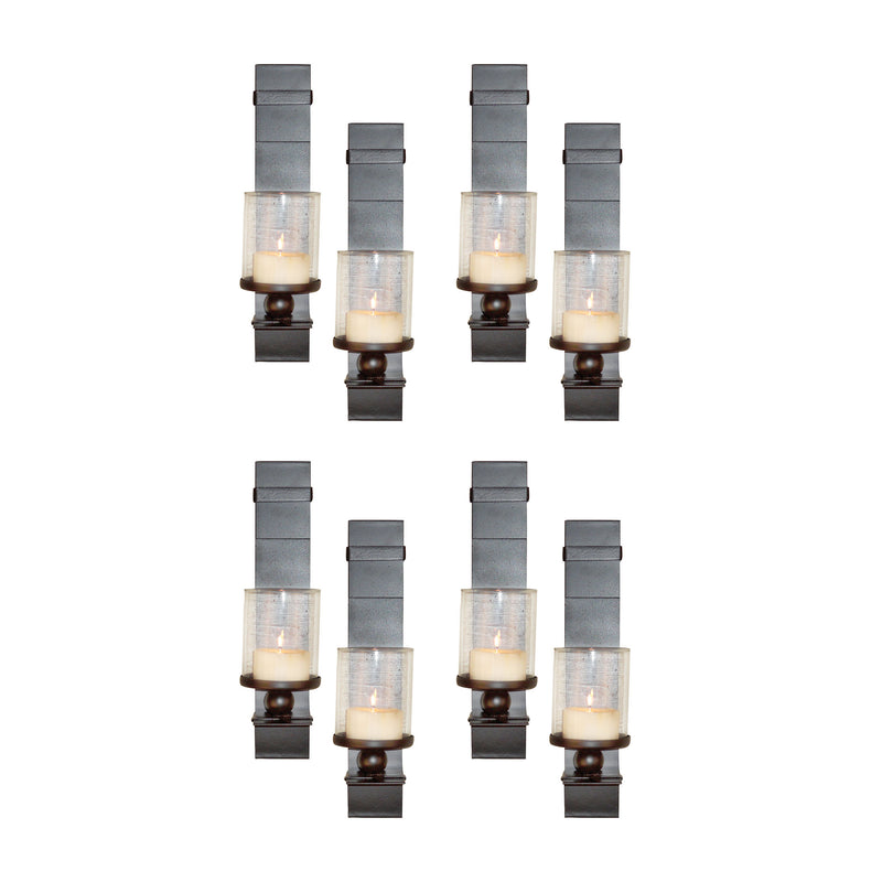 Bolo Set of 8 Wall Sconces - Clear