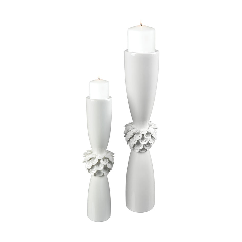 Tranquillo Candle Holder - Gloss White
