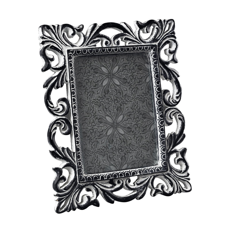 ANTIQUE WHITE SCROOL PICTURE FRAME - SUCCESSOR BLACk