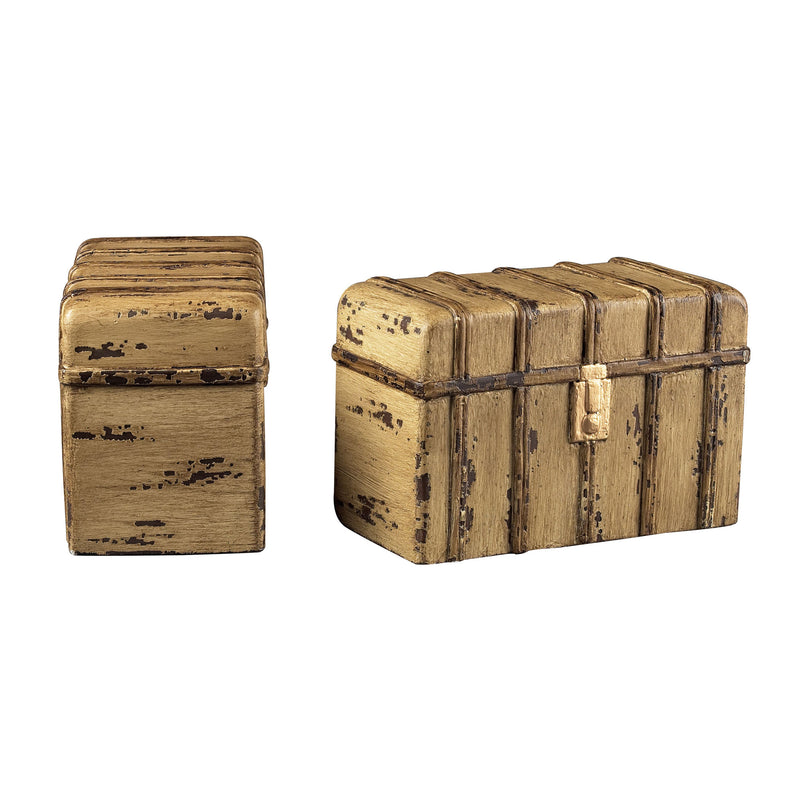 TRAVELLERS TRUNk BOOkENDS - MIMOSO
