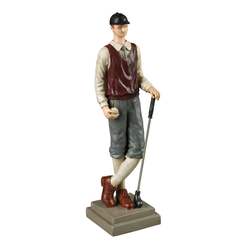 GOLFER STATUARY - Penarth Blue