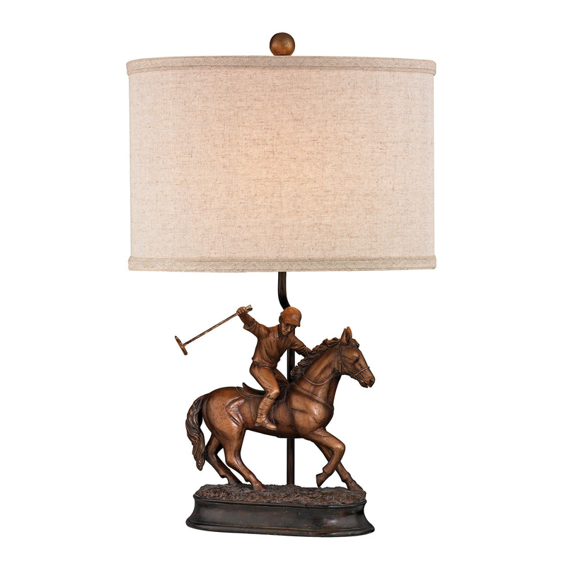 POLO PLAYER ACCENT LAMP - HAMSTEAD BRONZE