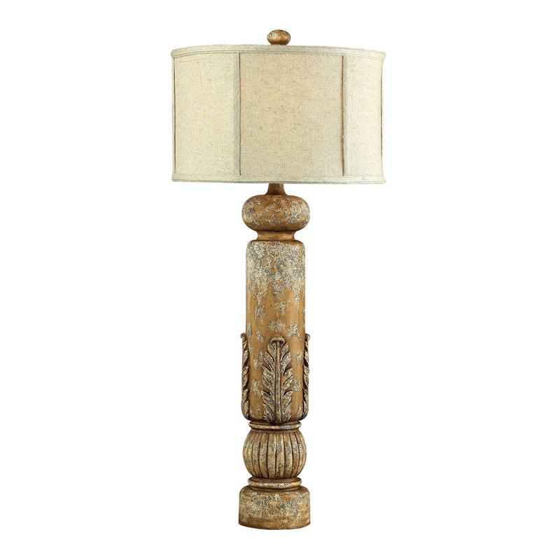 Twin Falls Bannister Table Lamp w/Leaf Detailing-JS - Loughry