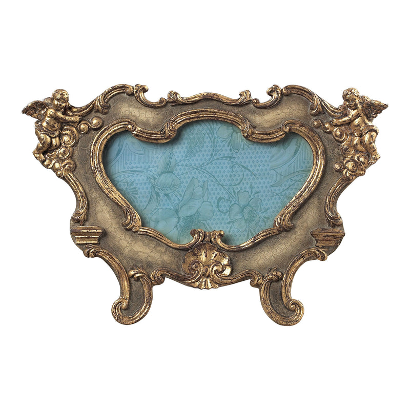 FLORINTINE SCROLL PICTURE FRAMES - OVAL - SUSSEX STONE WITH GOLD