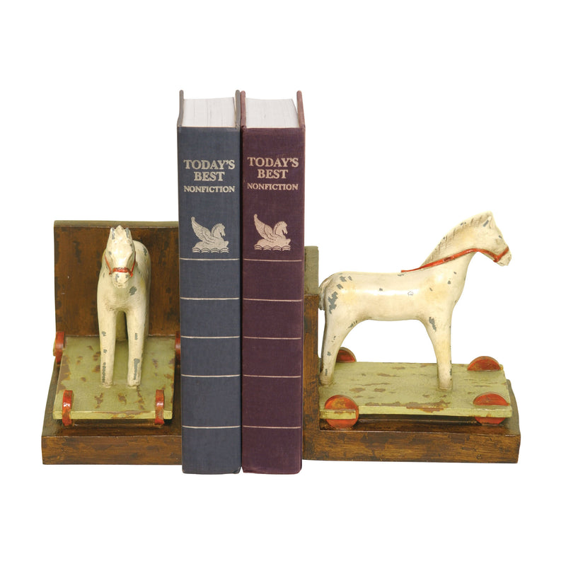 PAIR CHILDS PONY BOOkENDS -