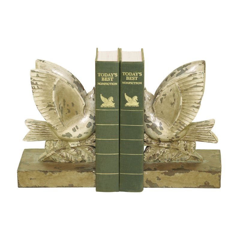 PAIR TAkING FLIGHT BOOkENDS-JS -