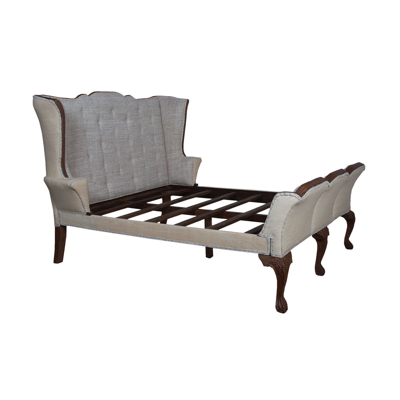 Jefferson King Sleigh Bed - Natural Aged Stain